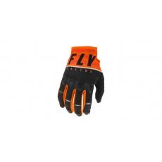 rukavice KINETIC K120 2020, FLY RACING (oranžová/černá/bílá)