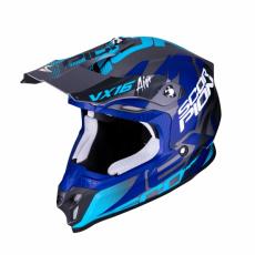 Moto přilba SCORPION VX-16 AIR ALBION matná stříbrno/modrá