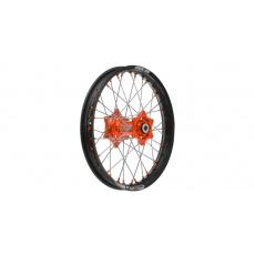 """zadní kolo kompletní (18"""" x 2,15"""") KTM, Q-TECH (černý ráfek, oranžový střed)"""