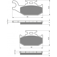 brzdové desky DP jako GF 205