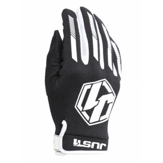 Moto rukavice JUST1 J-FORCE černo/bílé