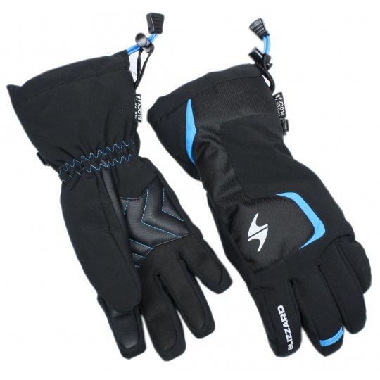 lyžařské rukavice BLIZZARD Reflex junior ski gloves, black/blue