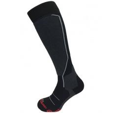 lyžařské ponožky BLIZZARD Allround ski socks, black/anthracite/grey/red