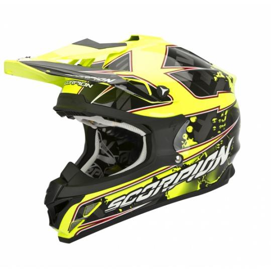 Moto přilba SCORPION VX-15 EVO AIR MAGMA černo/neonově žlutá