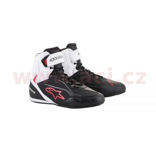 boty FASTER-3, ALPINESTARS (černé/bílé/červené)