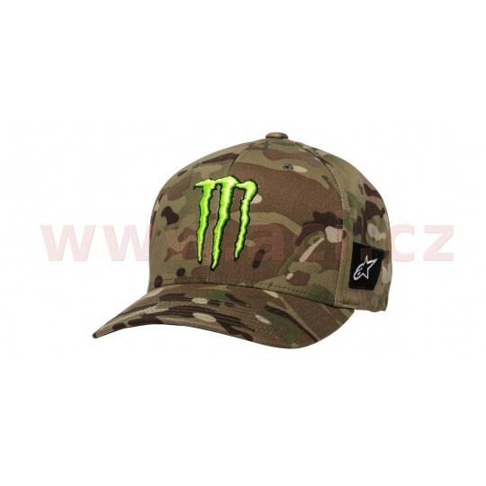 kšiltovka MONSTER MULTICAMO HAT, ALPINESTARS (zelená)