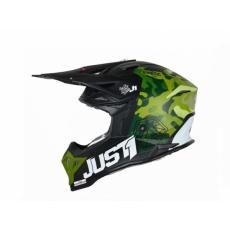Moto přilba JUST1 J39 KINETIC matná camo army zeleno/černá