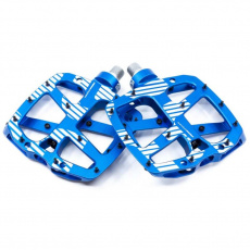 Plus Flat Pedal | Aluminum Body | 22 Pins | Blue
