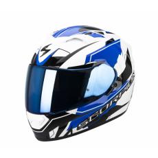 Moto přilba SCORPION EXO-1200 AIR SHARP bílo/modrá