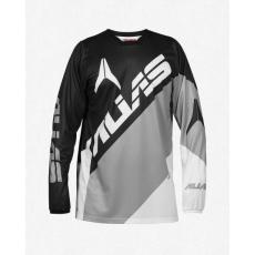 Motokrosový dres ALIAS MX A2 BLOCKED černo/šedý 2164-326