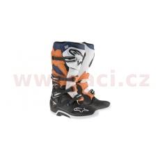boty TECH 7 2021, ALPINESTARS (černé/bílé/modré/oranžové)