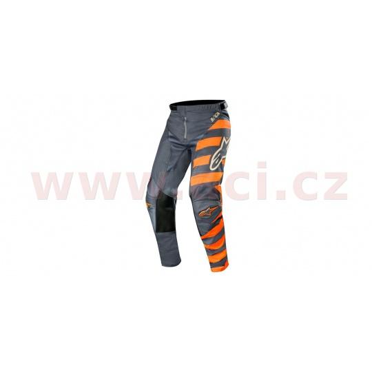 kalhoty RACER BRAAP 2019, ALPINESTARS (antracitová/oranžová fluo/písková)