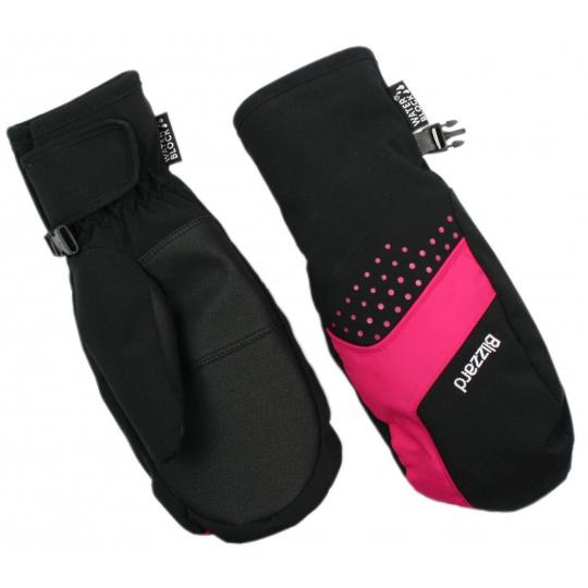 lyžařské rukavice BLIZZARD Mitten junior ski gloves, black/pink
