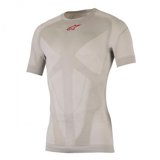 ALPINESTARS Tech Top SS Summer Silver Red  -  funkční triko