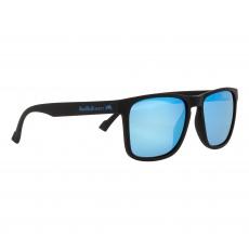 sluneční brýle RED BULL SPECT Sun glasses, LEAP-003P, matt black rubber, smoke with ice blue mirror POL, CAT3, 55-17-145