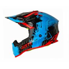 Moto přilba JUST1 J38 MASK modro/červeno/černá