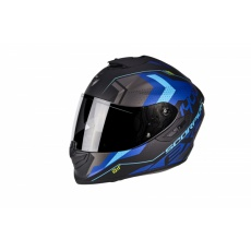 Moto přilba SCORPION EXO-1400 AIR TRIKA matná černo/modrá