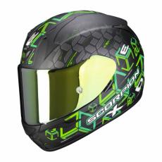 Moto přilba SCORPION EXO-390 CUBE matná černo/zelená