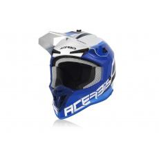 Acerbis motokros přilba LINEARbílá/modrá