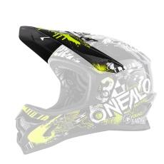 Náhradní kšilt přilby O´Neal Backflip RL2 ATTACK černá/žlutá