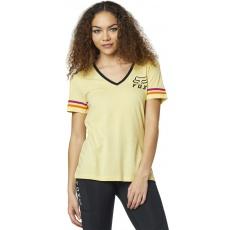 Dámské triko Fox Heritage Forger Ss Top Pale Yellow