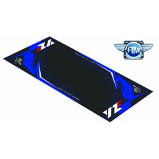 Koberec pod moto 100x160cm Hurly YAMAHA YZF 4T černo/modrý