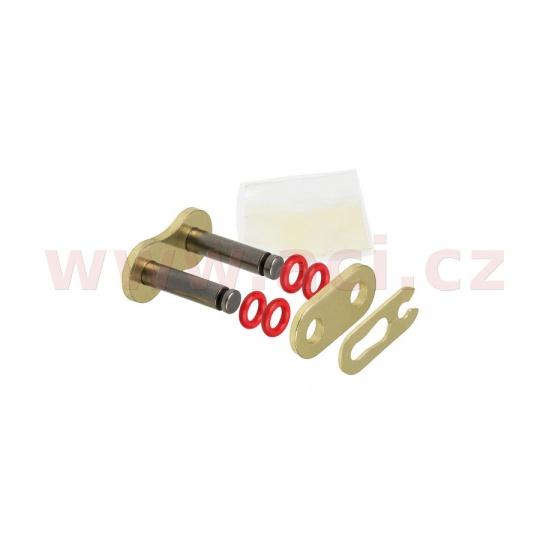 spojka řetězu 428HPO, JT CHAINS (barva černo-zlatá, rozpojovací, typ SPRING)