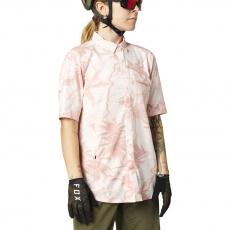 Dámský dres Fox Flexair Woven Ss Pale Pink