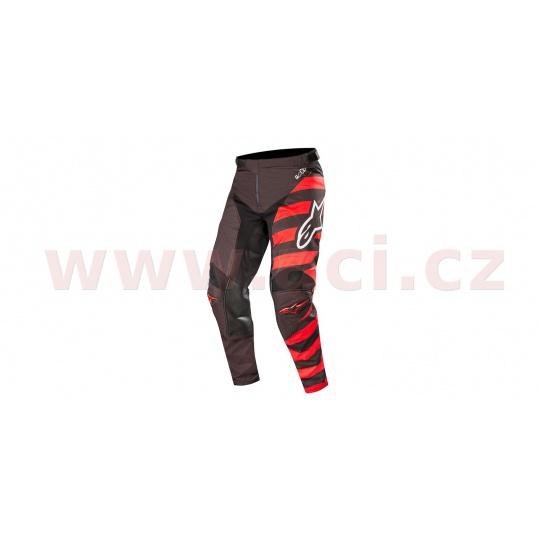 kalhoty RACER BRAAP 2019, ALPINESTARS (černá/bílá/červená)
