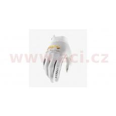 rukavice iTRACK, 100% - USA (bílá/zlatá)