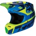 Dětská MX helma Fox Racing Yth V3 Divizion Hlmt, ECE Blue/Green