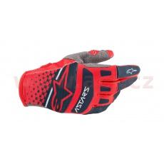 rukavice TECHSTAR 2020, ALPINESTARS (světlá červená/tmavá modrá)