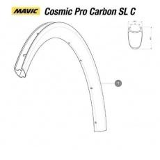 MAVIC KIT FRONT RIM COSMIC PRO CARBON SL CLINCHER (LV2401000) NAHRAZENO POLOŽKOU LV4092600