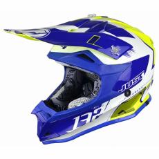 Moto přilba JUST1 J32 PRO KICK bílo/modro/žlutá