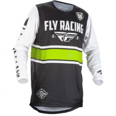 dres Kinetic ERA 2018, FLY RACING - USA (černá/bílá)
