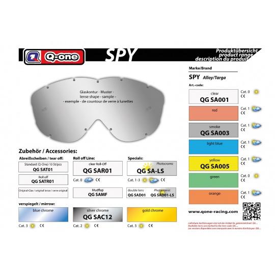 sklo Spy Alloy čiré