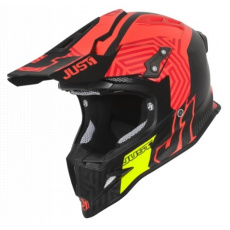 Moto přilba JUST1 J12 SYNCRO carbon červená