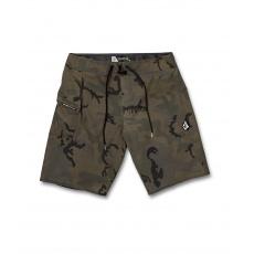 """Pánské plavky Volcom Lido Solid Mod 20"""" Camouflage"""