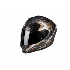 Moto přilba SCORPION EXO-1400 AIR TRIKA zlato/černá