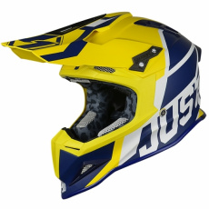 Moto přilba JUST1 J12 UNIT modro/žlutá