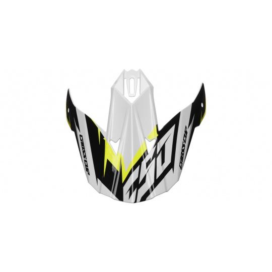 kšilt pro přilby Cross Cup Two, CASSIDA (bílý/žlutý fluo/černý/šedý)