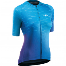 Dámský dres Northwave Blade Woman Jersey Short Sleeves Purple Blue