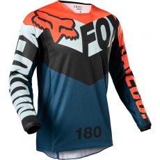 Pánský MX dres Fox 180 Trice Jersey Grey/Orange