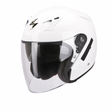 Moto přilba SCORPION EXO-220 solid bílá