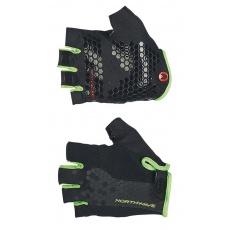 Pánské rukavice Northwave Grip hort Gloves Black/Green Fluo