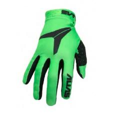 Dětské motokrosové rukavice ALAIS MX AKA neonově zelené 2831-091