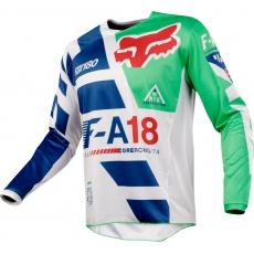 Pánský MX dres FOX 180 Sayak Jersey Green Blue 2018