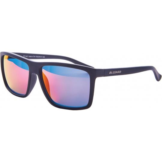 sluneční brýle BLIZZARD sun glasses PCSC801011, rubber black, 65-17-140
