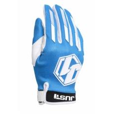 Moto rukavice JUST1 J-FORCE modro/bílé