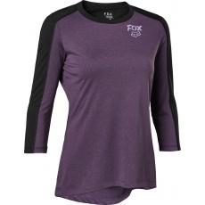 Dámský dres Fox W Ranger Dr 3/4 Jersey Purple